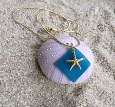 Nautical NecklaceGold Plated Starfish Charm22 mm by SUSANsBAUBLES