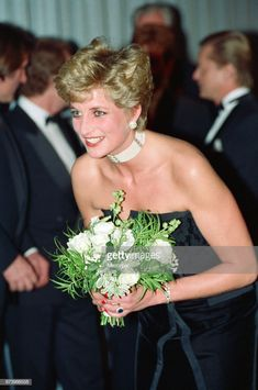 """Princess Diana, HRH The Princess of Wales, attends the Royal Gala Premiere of - Conquest of Paradise"""" at The Empire Leicester Square, London October 1992 Princess Diana Pictures, Lady Diana Spencer, Princesa Diana, Princess Of Wales, Queen Of Hearts, Vintage Girls, Glamour, Evening Dresses, Most Beautiful"""