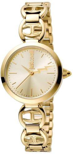 7b3ff58193 Just Cavalli Macrame Gold Dial Ladies Watch Gold Watches Women
