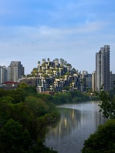 Heatherwick Studio has released photography of its plant-covered Trees development in Shanghai, which has had its scaffolding removed. Types Of Granite, Singapore Changi Airport, Thomas Heatherwick, Plant Covers, Space Architecture, Different Plants, Green Building, Event Venues, Shanghai