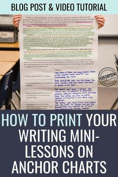 Love mini-lessons in writing but hate writing out the anchor charts? Check out this easy tutorial to print the anchor charts for cheap!