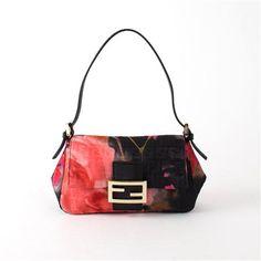 ACHICA | Fendi Floral Zucca Mama Bag, Black