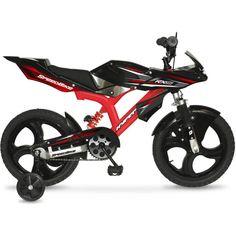 "kids Bikes with Training Wheels Boys Girls 16"" BMX Sport Ninja Racer Pedal Biker"