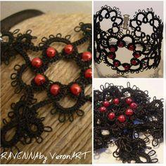 VERONART tatting - hajócsipke - frivolitás Tatting, Christmas Wreaths, Crochet Necklace, Halloween, My Love, Holiday Decor, Black, Jewelry, Christmas Garlands