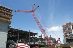 Manitowoc lifts where other cranes can't at North America's largest convention center! Manitowoc Cranes, Places In Chicago, Crawler Crane, All Family, Convention Centre, Heavy Equipment, Golden Gate Bridge, Illinois, North America