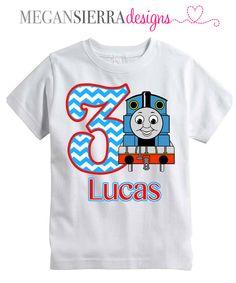 Thomas the Train Birthday Shirt by MeganSierraDesigns on Etsy