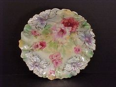 beautiful floral prussia plate