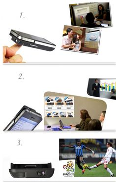 Fashionable Handheld Pocket DLP Mini Projector Multimedia Cinema Projector for iPhone 4/4S with Backup Battery $188.30