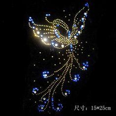 ( 2 пк / lot ) бабочка горный хрусталь узор железо горный хрусталь передачи дизайн исправить горный хрусталь стразы