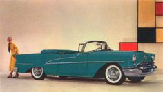 1955 Oldsmobile Ninety Eight Starfire #vintage #cars