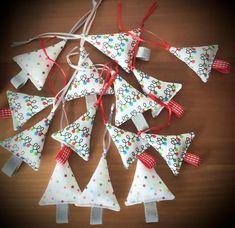 Christmas tree decoration hand sewn xmas ornament xmas | Etsy Lavender Bags, Lavender Sachets, Seaside Theme, Geometric Star, Xmas Tree Decorations, Mini Christmas Tree, Liberty Fabric, Xmas Ornaments, Fabric Decor