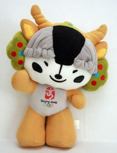 2008 Beijing Olympics Mascot Plush Stuffed Animal Ying Ying The Tibetan Antelope