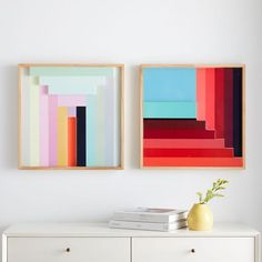 The Margo Selby Colorblock Lacquer Wall Art is a lush, modern take on colorblocking. The piece stitches together a medley of shapes and colors across a statement-making size that& perfect above a sofa or a bed. Mirror Wall Art, Frame Wall Decor, Wall Art Sets, Diy Wall Art, Home Wall Art, Diy Wall Decor, Room Decor, Framed Art, 3d Wall