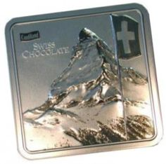 Metall Packung MATTERHORN / MATTERHORN metal pack has a delicious chocolate in it. Suitable for a gift.