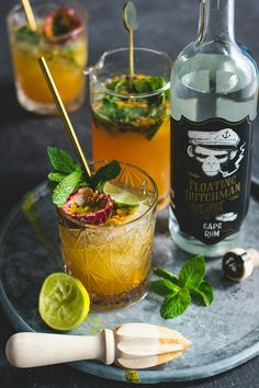 Iced Tea Mix, Lime Juice, Moscow Mule Mugs, Rum, Brewing, Cocktails, Mint, Tableware, Food