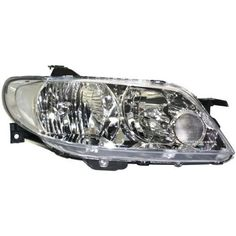 2002-2003 Mazda Protege5 Head Light RH, Lens And Housing, Aluminum Bezel
