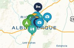 Ultimate Offbeat Guide to Albuquerque, New Mexico Map