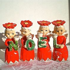 Vintage christmas noel figurines