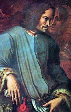 "Lorenzo ""il Magnifico"" de' Medici, Florence - patron of arts who commissionned works by Michelangelo, Leonardo da Vinci and Botticelli. Florence Renaissance, High Renaissance, Medici Masters Of Florence, Giorgio Vasari, Renaissance Portraits, Italian Paintings, Italian Art, Florence Italy, Michelangelo"