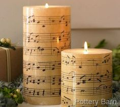 music home-made candles