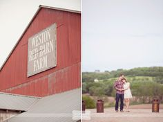 The Weston Red Barn Farm is the most amazing place for a rustic Midwest wedding!  It's scenic, and a real working farm complete with adorable farm animals.  ;)  From a rustic engagement photography session...