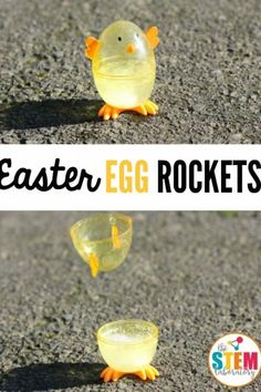 I love these Easter egg rockets! What an awesome science experiment for kids. Perfect science activity for spring or Easter. I love these Easter egg rockets! What an awesome science experiment for kids. Perfect science activity for spring or Easter. Kid Science, Preschool Science, Science Activities, Summer Science, Preschool Kindergarten, Physical Science, Earth Science, Science Chemistry, Science Education