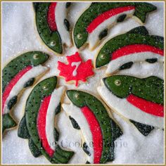 """""""On the 7th Day of Christmas my friends I give to thee: Seven Trout-a-Spawning..."""" Glazed Sugar Cookies by Robin Traversy {The Cookie Faerie}. Cookie Connection Christmas Countdown Challenge."""