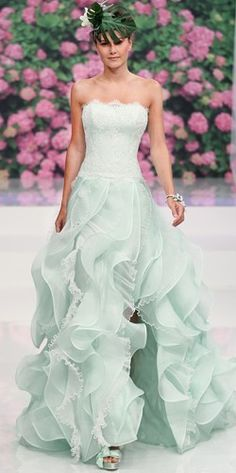 Mint Wedding ~ Wedding Gown  @WedFunApps wedfunapp.com ♥'s Keywords: #weddings #jevelweddingplanning Follow Us: www.jevelweddingplanning.com  www.facebook.com/jevelweddingplanning/