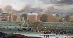 """A Frost Fair on the Thames at Temple Stairs"" by Abraham Danielsz, c.1684"