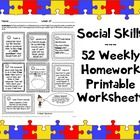 This pack contains 52 pages of social skills take-home worksheets (in PDF format), each of which in turn contains 7 exercises/activities. That mean...