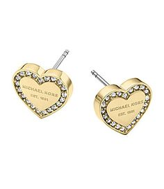 Michael Kors Logo Heart Stud Earrings #Dillards