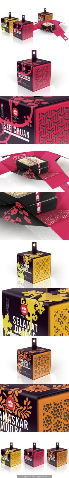 Pretty Asian inspired take-out by Reynhard Faber on curated by Packaging Diva PD created via Candle Packaging, Cool Packaging, Tea Packaging, Food Packaging Design, Beverage Packaging, Packaging Design Inspiration, Brand Packaging, Branding Design, Displays