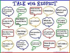 respectful conversation poster - Bing images