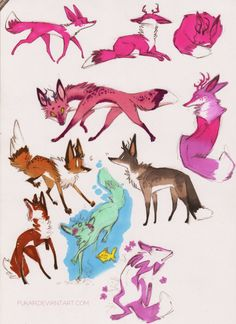foxes by Fukari on deviantART