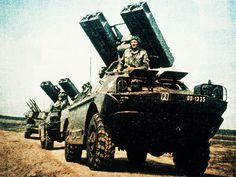 "* Soviet 9K31 Strela-1 (""SA-9 Gaskin"", 9P31). * Lançador de Míssil 'Terra-Ar'."