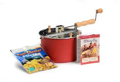 Amazon.com: Wabash Valley Farms Red Whirley Pop Stovetop Popcorn Popper (Includes Popping Kit): Kitchen & Dining