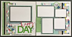 """CTMH Some Kinda Wonderful """"Happy Day"""" layout - Scrap with Sue"""
