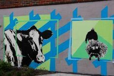 Utsmykning bo- og behandlingssenteret Figurative, Graffiti, Moose Art, Animals, Abstract, Animales, Animaux, Animal, Animais