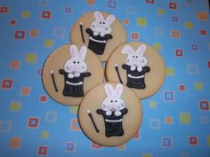 Items similar to Rabbit Magic Hat Cookies on Etsy Buttery Sugar Cookies, Lemon Icing, Magic Hat, 5th Birthday, Party Themes, Rabbit, How To Draw Hands, Make It Yourself, Hats