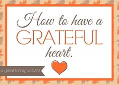 family night on gratitude- such great ideas leading up to Thanksgiving or anytime of year!