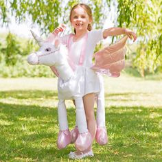 Children's Ride On Unicorn Dress Up Costume