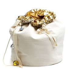 Image of Gold Christmas Sack - Reversible Gold Christmas, Bucket Bag, Bags, Handbags, Pouch Bag, Taschen, Purse, Purses, Bag