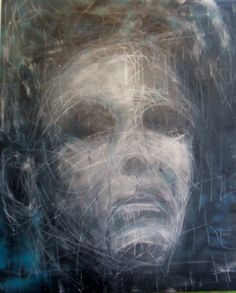 drawing and painting on canvas by Kat Ostrow