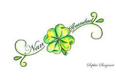 Cute 4 leaf clover tattoo idea