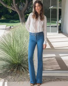 LOVE. Must DIY a version. Sew with Threadhead TV. ~Biscayne Braided High Waisted Jeans
