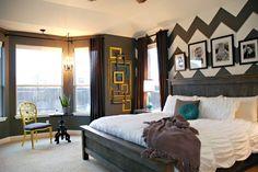 Cute bedroom decor ideas. Love the dark colors. Relaxing.