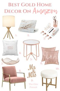 Best Gold Home Decor Accents: The Best Gold Ideas for a S Best Gold Home Decor Accents: Die besten Goldideen für ein schönes Zuhause! Egal ob … Best Gold Home Decor Accents: The best gold ideas for a beautiful home! Rose Gold Room Decor, Rose Gold Rooms, Gold Bedroom Decor, Gold Home Decor, Home Office Decor, Cheap Home Decor, Diy Home Decor, Rose Bedroom, Gold Bedroom Accents