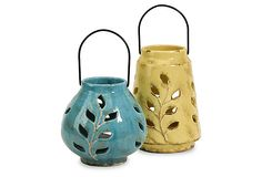 Austin Ceramic Lanterns, Asst. of 2 on OneKingsLane.com
