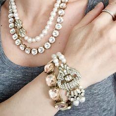 Heirloom Pearl Deco Necklace   Chloe + Isabel