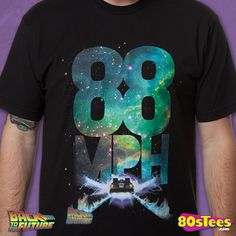 88 MPH Back to the Future T-Shirt made by American Classics in collections: 80s Movies: Back To The Future, & Department: Adult Mens, & Color: Black